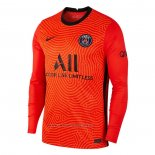 Camiseta Paris Saint-Germain Portero Manga Larga 2020-2021 Naranja