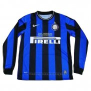 Camiseta Inter Milan Primera Manga Larga Retro 2009-2010
