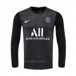 Camiseta Paris Saint-Germain Portero Manga Larga 2020-2021 Negro